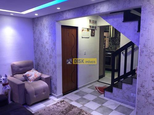 Sobrado Com 3 Dormitórios À Venda, 72 M² Por R$ 499.000 - Demarchi - São Bernardo Do Campo/sp - So0669