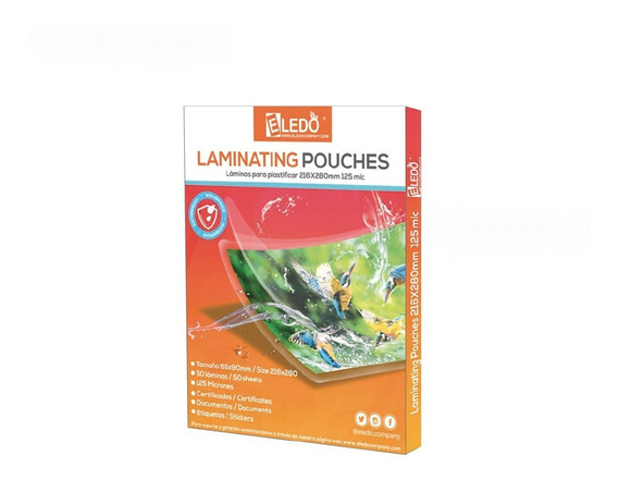 Laminas Para Plastificar Carta 230x293mm 150 Micrones