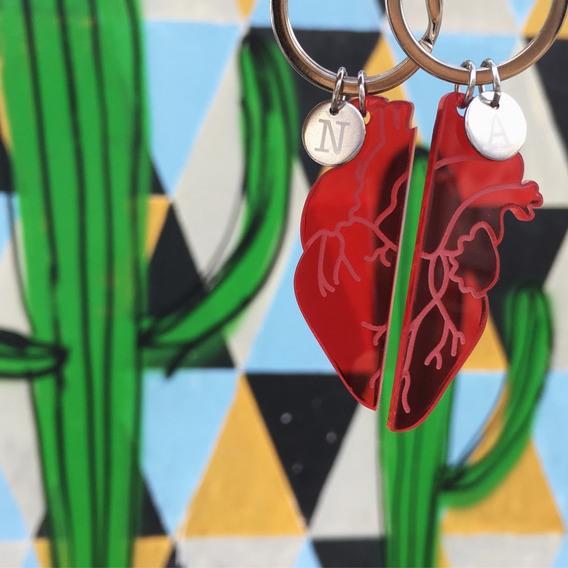 Llaveros Para Parejas Personalizados Corazón Regalo Novios