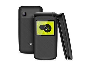 Lote 10 Celular Dl Yc330 Flip Dual Chip Rádio Preto Lacrado