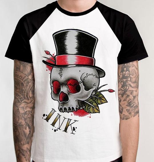 Camiseta Raglan Tattoo Desenho Camisa Blusa Tatuagem Unissex