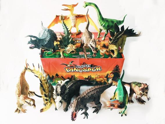 Caja Con 12 Increibles Dinosaurios, Indominux, Velociraptor