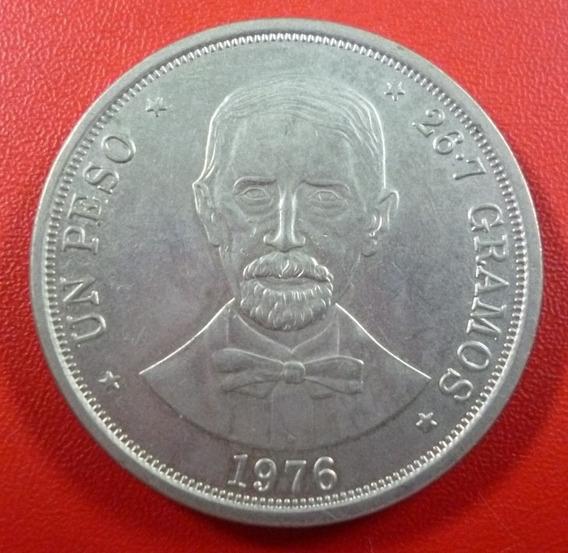 República Dominicana Moneda Aniv Muerte Duarte 1 Peso 1976