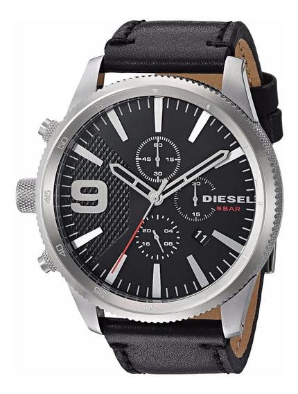 Relógio Diesel Masculino Couro - Dz4444 Preto - ( Nfe )