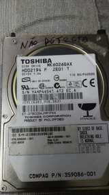 Hd Ide Notebook Toshiba Mk6026gax Hdd2194 F Ze01 T( 064 )