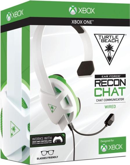 Diadema Chat Turtle Beach Recon Blanco Xbox One Nuevo