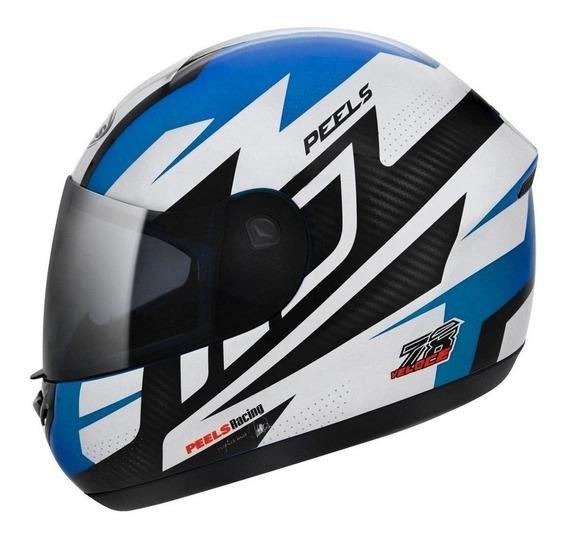 Capacete para moto integral Peels Spike Veloce azul tamanho 58