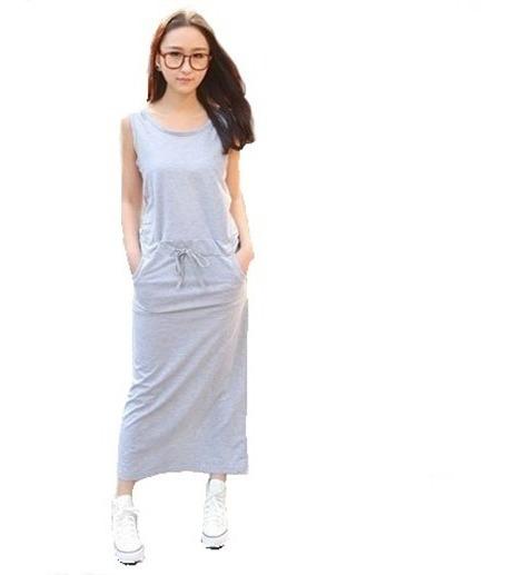 Fresco Vestido Juvenil Sin Mangas Para Mujer Primavera 5137