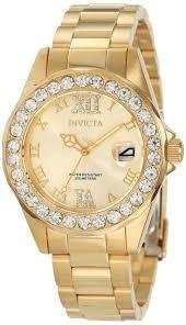 Relógio Invicta Feminino 15252 Crystal Original Banhado Ouro