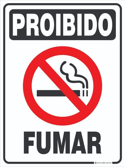 Placa Sinalização Proibido Fumar Comércio Loja Cigarro Pvc