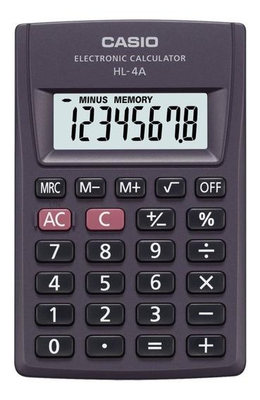 Calculadora De Bolso 8 Dígitos Casio Preta - Hl-4a
