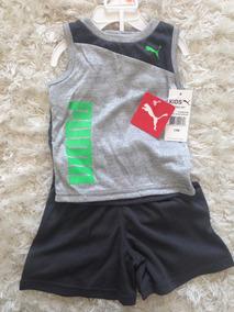 Conjunto 2 Pç Camiseta + Short Menino 12 M - Puma Original