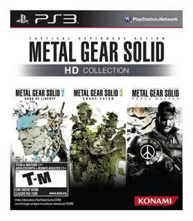 Metal Gear Solid Hd Collection Ps3 Juego Fisico Sellado