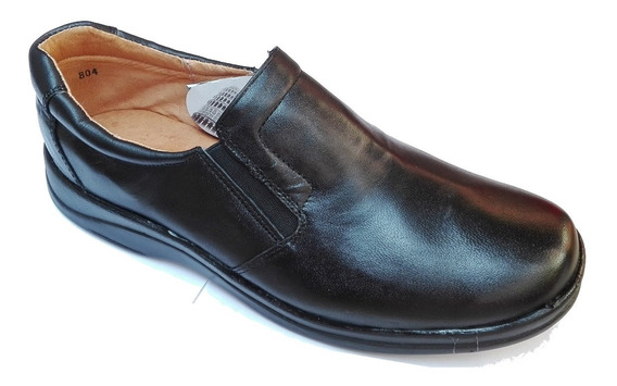 Zapato Piel De Borrego Para Pie Delicado Diabetico Negro 804