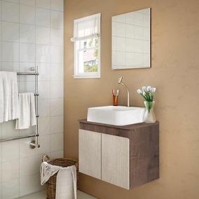 Gabinete Banheiro Com Espelho E Tampo Gaam Tokyo Wg/rov