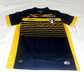 Camisa São Paulo Goleiro 2015 Amarela E Preta (rogério Ceni)