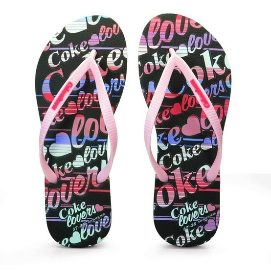 Chinelo Feminino Lovers Coke Shoes R$ 49,90 Frete Gratis