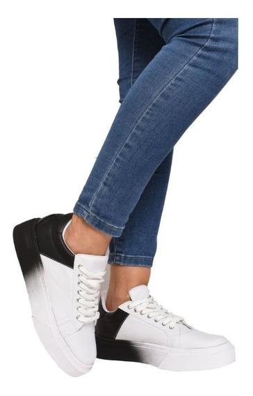 Zapato Zapatilla Blanca Brague Invierno Zara Negro