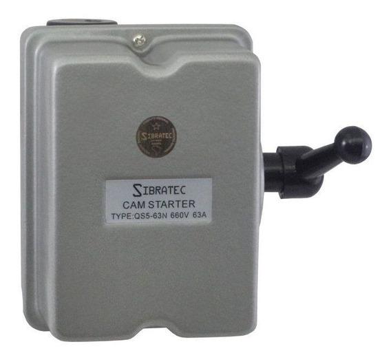 Chave Eletromecânica Reversora 3 Polos - 63a (metálica)