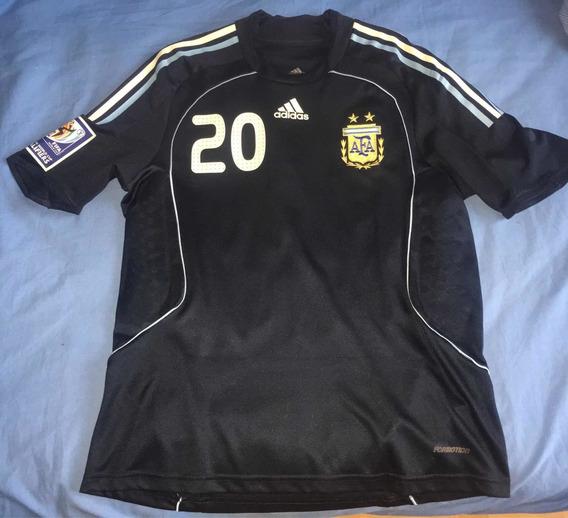 Camiseta Selección Argentina Usada En Juego 2008 Formotion