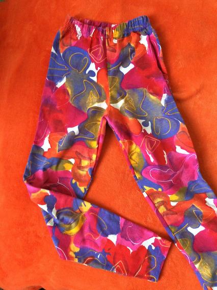 Calzas Multicolor Algodón Spandex Talle S