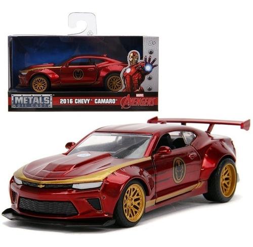Iron Man Carro De Colección A Escala Chevy Cámaro Jada Toys