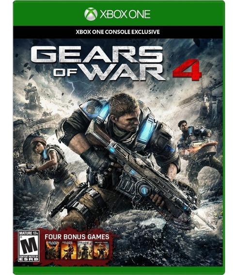 Jogo Novo Midia Fisica Gears Of War 4 E Bonus Para Xbox One