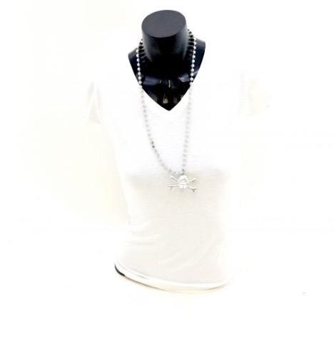 6 Pack Collar Color Plata De Plastico Con Calavera