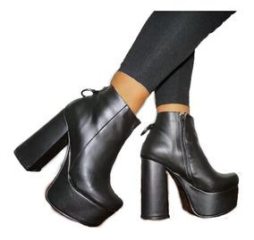 Zapatos Mujer Botas Fiesta Plataforma Livianas Comodas A.912