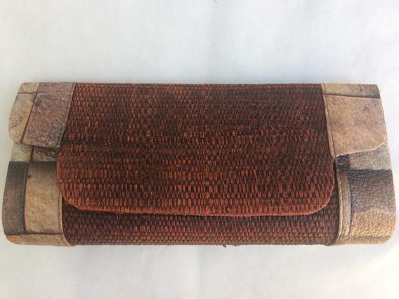 Bolsa Carteira Feminina Em Bambú