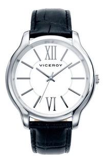 Reloj Hombre Viceroy 40409-03 Acero Inoxidable Cuero Wr 30m