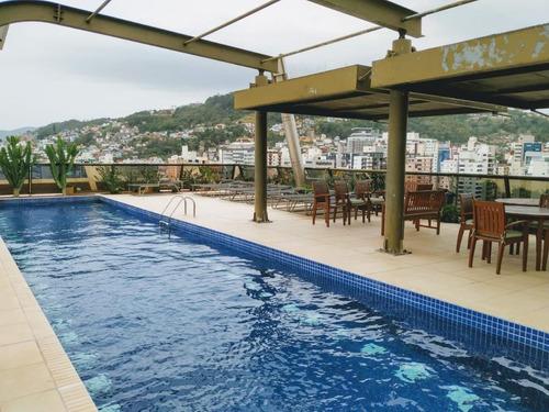 Imagem 1 de 17 de Apartamento Semi Mobiliado De 43 M² Com Vista Mar E 1 Dormitório - Beira Mar Norte - Ap5849