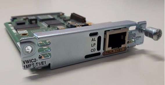 Placa Vwic2-1mft-t1/e1 Para Roteador Cisco