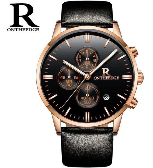 Relógio De Quartzo Masculino Luminoso Premium Preto