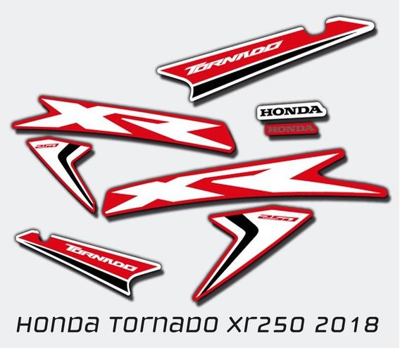Kit Calcos Tornado Xr250 Gráfica 2017-19 Símil Orig.