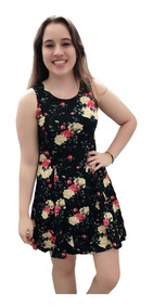 Vestidinho De Malha Curto Kit4 Novo Atacado Verão Floridos