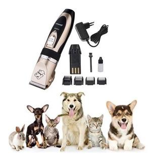 Máquina Corta Pelo Recargable Mascotas + Accesorios