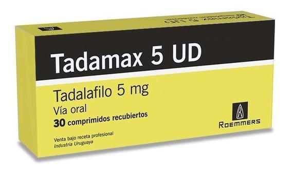 Tadamax 5 Mg Ud X 30 Comprimidos Recubiertos