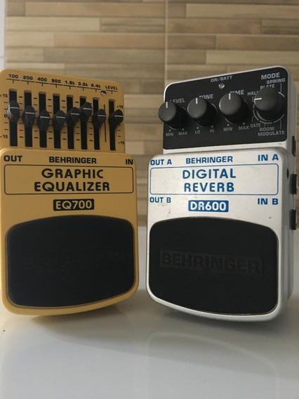 Pedal Behringer Eq700 Equalizer E Digital Reverb Dr600