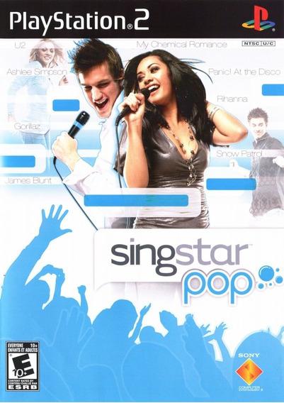 Jogo Singstar Pop Playstation 2 Ps2 Original Mídia Física
