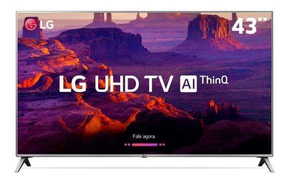 Smart Tv Led 43 Ultra Hd 4k LG 43uk6520psa Cristal Quebrado