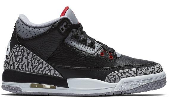 Jordan 3 Black Cement Talla 7 Mx Original Usado