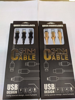 Cable Usb 3 En 1 Para Equipos Moviles.