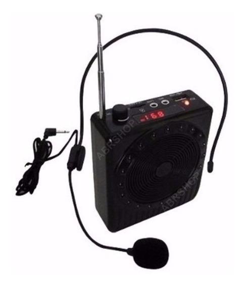 Megafone Microfone Amplificador Kit Completo P/ Professor