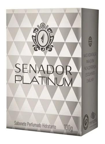 Imagem 1 de 1 de Sabonete Senador 130 Gr Platinum  6 Unidades