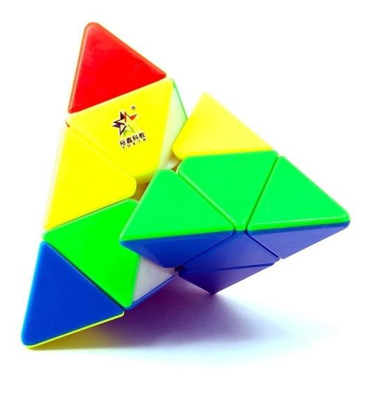 Cubo Mágico Puzzle Pyraminx Pirâmide Yuxin Little Magic