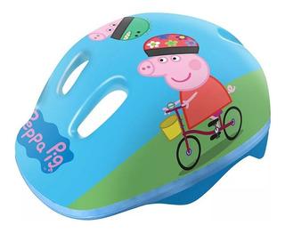Capacete Infantil Para Patins Ou Bike Peppa Pig Azul Dtc