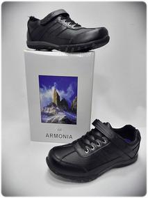 Zapato Escolar Unisex Marca Armonia Xs02a