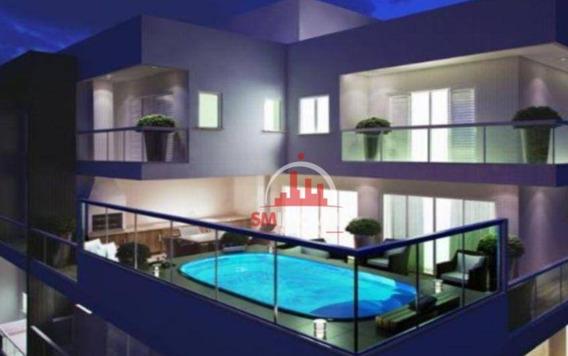 Cobertura Com 4 Dormitórios À Venda, 359 M² Por R$ 3.979.552,00 - Canto Do Forte - Praia Grande/sp - Co0009
