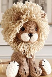 Lèon Amigurumi Muñeco Tejido A Crochet